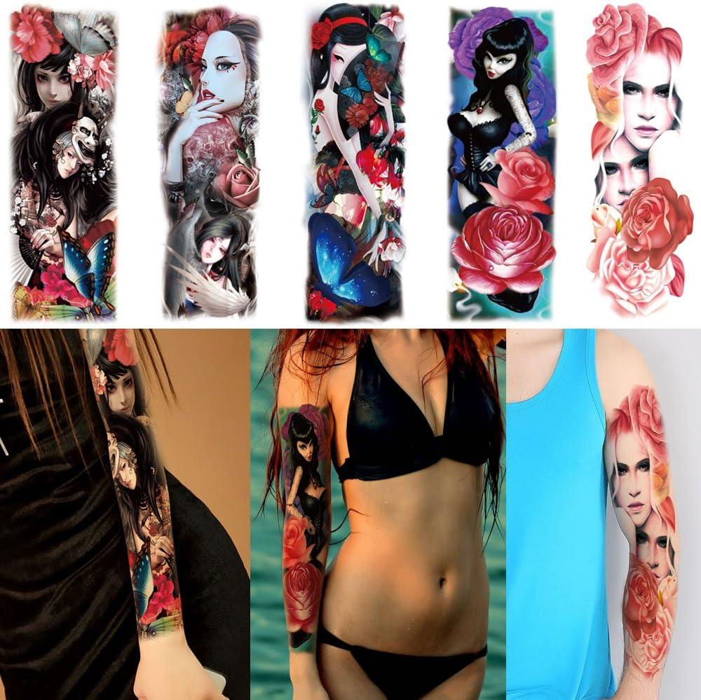 Fake completo brazo pierna tatuajes temporales adhesivo para ...