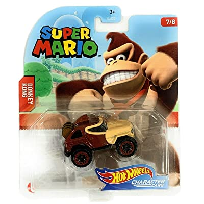 Hot Wheels Gaming Character Car Super Mario 2020 Series-Donkey Kong Vehicle(7/8): Toys & Games