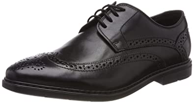 Mens Banbury Limit Brogues, Black, 6 UK Clarks