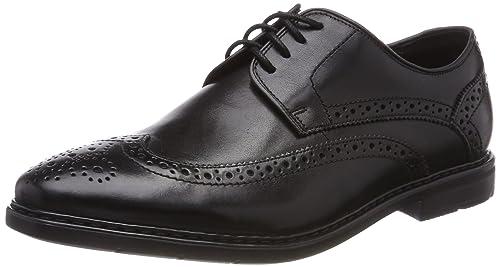 Clarks Men's Banbury Limit Brogues, Black (Black Leather-), 6 UK