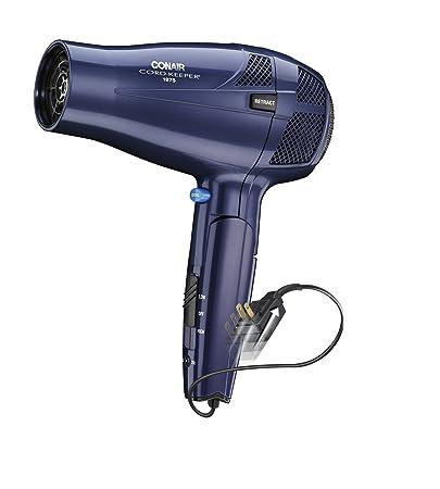 amazon com conair 1875 watt ionic conditioning cord keeper conair 1875 watt ionic conditioning cord keeper styler hair dryer folding handle blue