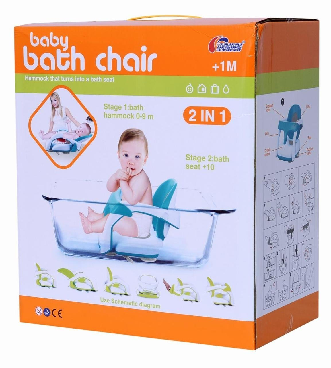 Amazon.com: Planet of Toys Baby Bath Chair Hammock (Turns Into a ...