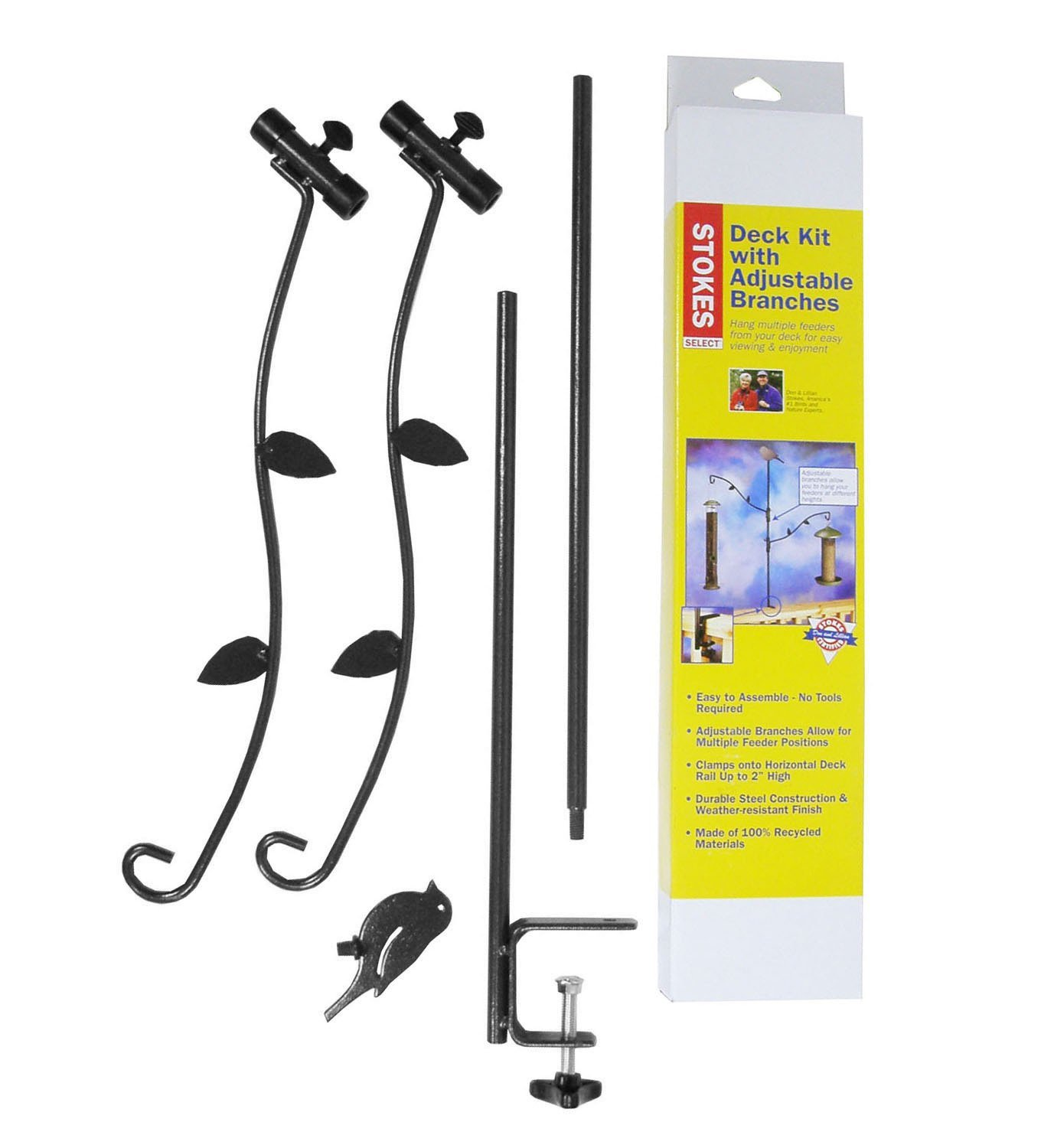 Stokes Select Bird Feeder Deck Pole Kit with Two Adjustable Branches 38099