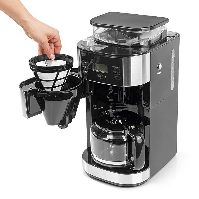 Barista Cafetera de filtro con molinillo | Incluye una jarra de ...