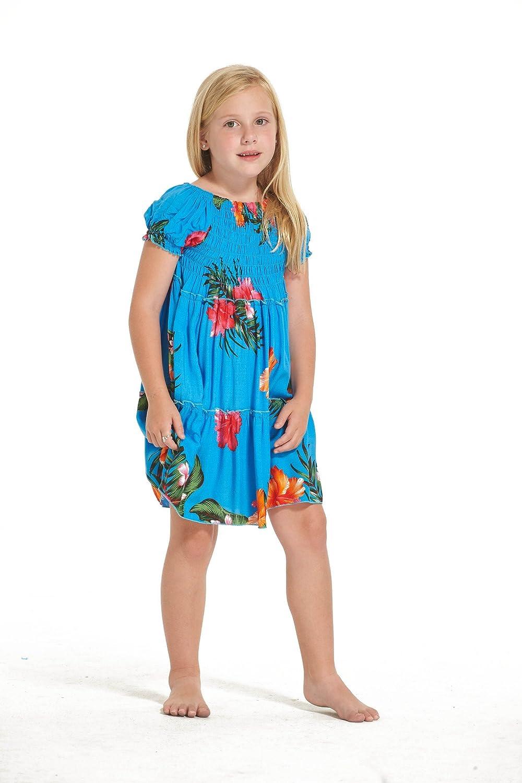 Aloha Fashion Mädchen Hawaiian Matching Kleid und Hosen Set in ...