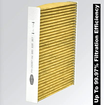 Luxus Filters HEPA Anti-Pollution Cabin Air Filter (Up To 99 97% Filtration  Efficiency) (VW Polo/Vento Skoda Rapid/Fabia) (PM-20367-VW) (OEM: