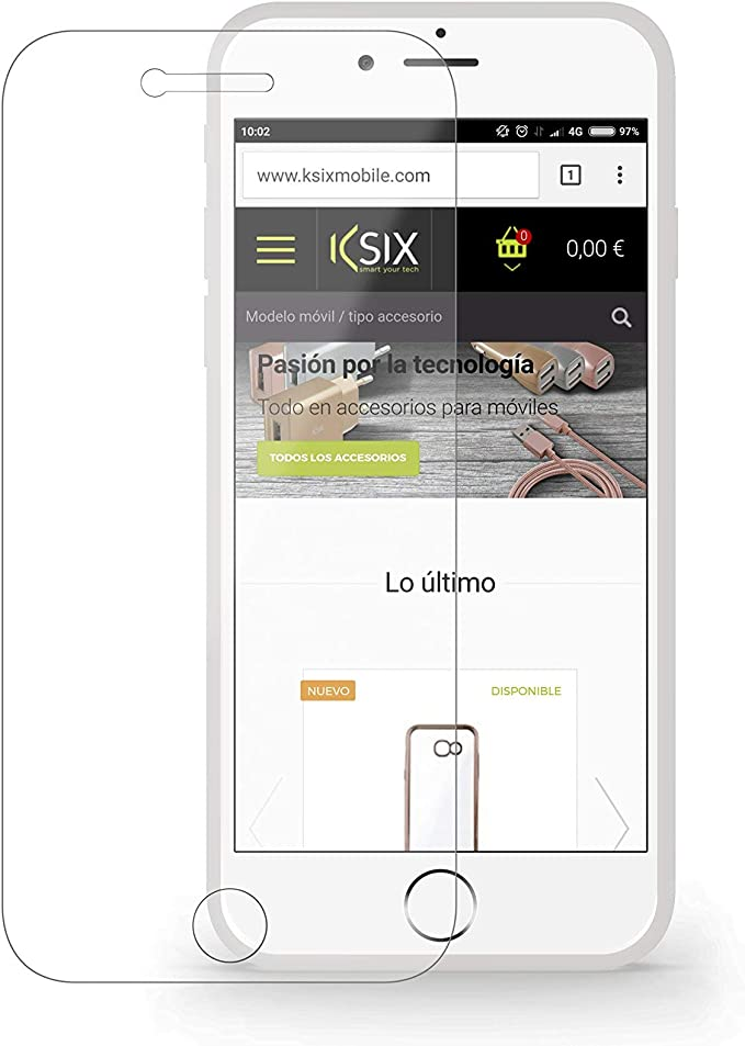 Ksix Pack Carcasa fusión Ultrafina Transparente + Protector Vidrio Templado 9H para iPhone 7 y 8 Plus: Amazon.es: Electrónica