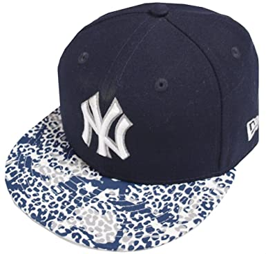 183842649b2 Image Unavailable. Image not available for. Color  New Era New York Yankees  Visor Print 59fifty 5950 Fitted Cap Navy Kappe Mens