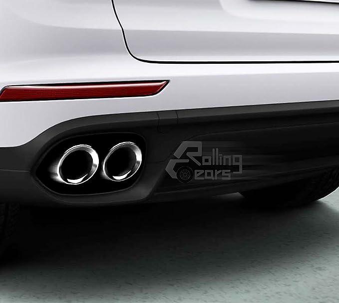 15 - 16 Porsche Cayenne Turbo S 958 V8 Standard Quad puntas de tubos de escape Silenciador: Amazon.es: Coche y moto