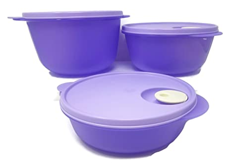 Amazon.com: Tupperware crystalwave 3 Piece – Cuenco para ...