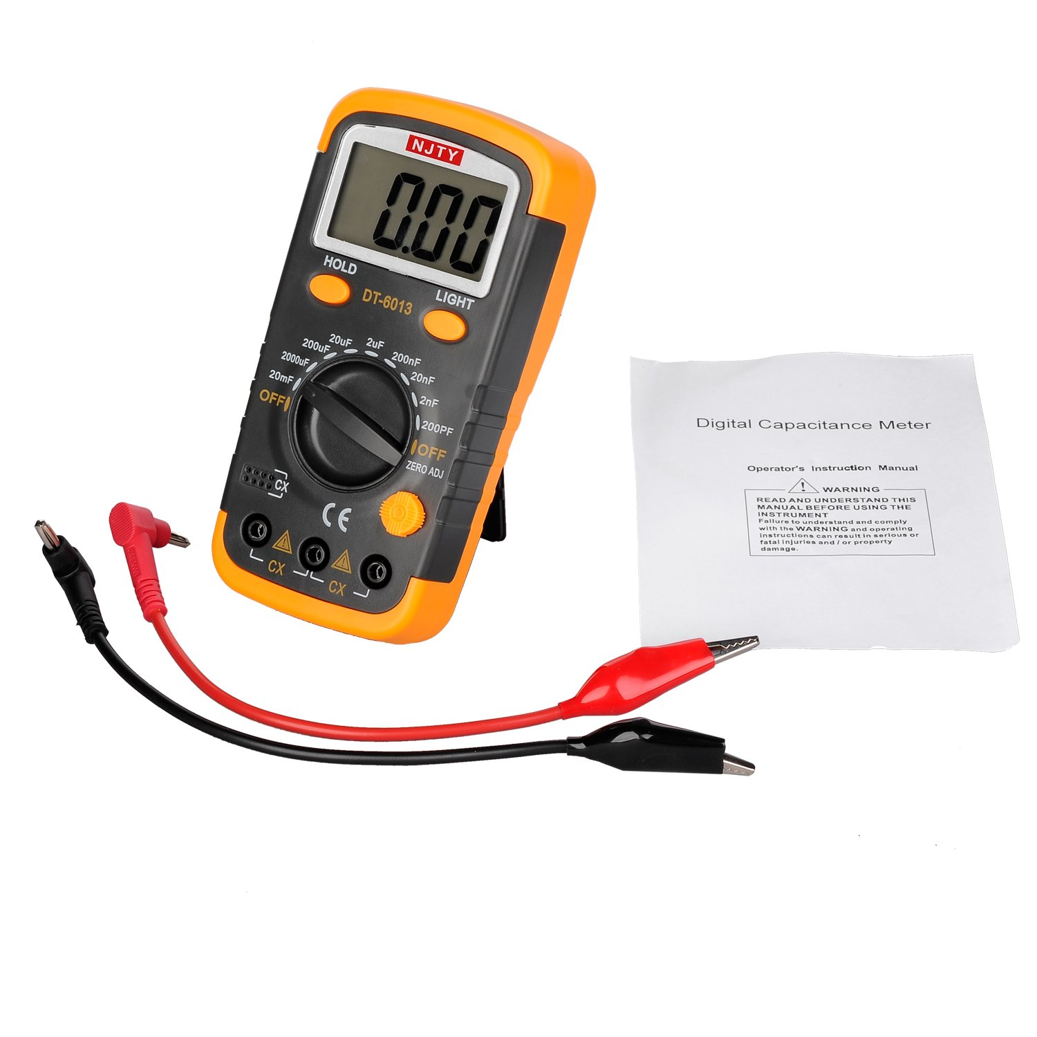 ELIKE DT6013 Capacitance Meter / Capacitor Tester 0.1pF to 20mF with Data Hold and Back Light Function/English Manual by ELIKE (Image #5)