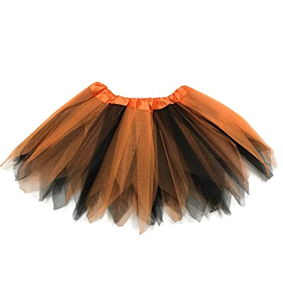 Rush Dance Angular Colorful Ballerina Dress-Up Princess Costume Recital Tutu (Orange & Black): Clothing