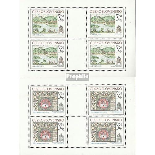 Tchécoslovaquie 2418Klb-2419Klb Feuille miniature (complète.Edition.) 1977 bratislava (Timbres pour les collectionneurs)