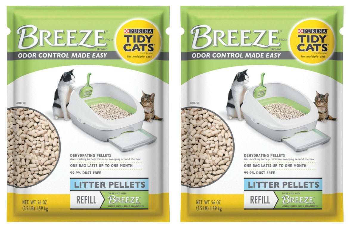 Purina Litter Tidy Cat Breeze Pellets, 3.5 lb, 2 Packs by Purina Litter