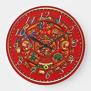 Mari57llis Reloj de pared redondo de madera de 15 cm