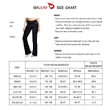 "BALEAF Women's 30"" Yoga Bootleg Pants Non"