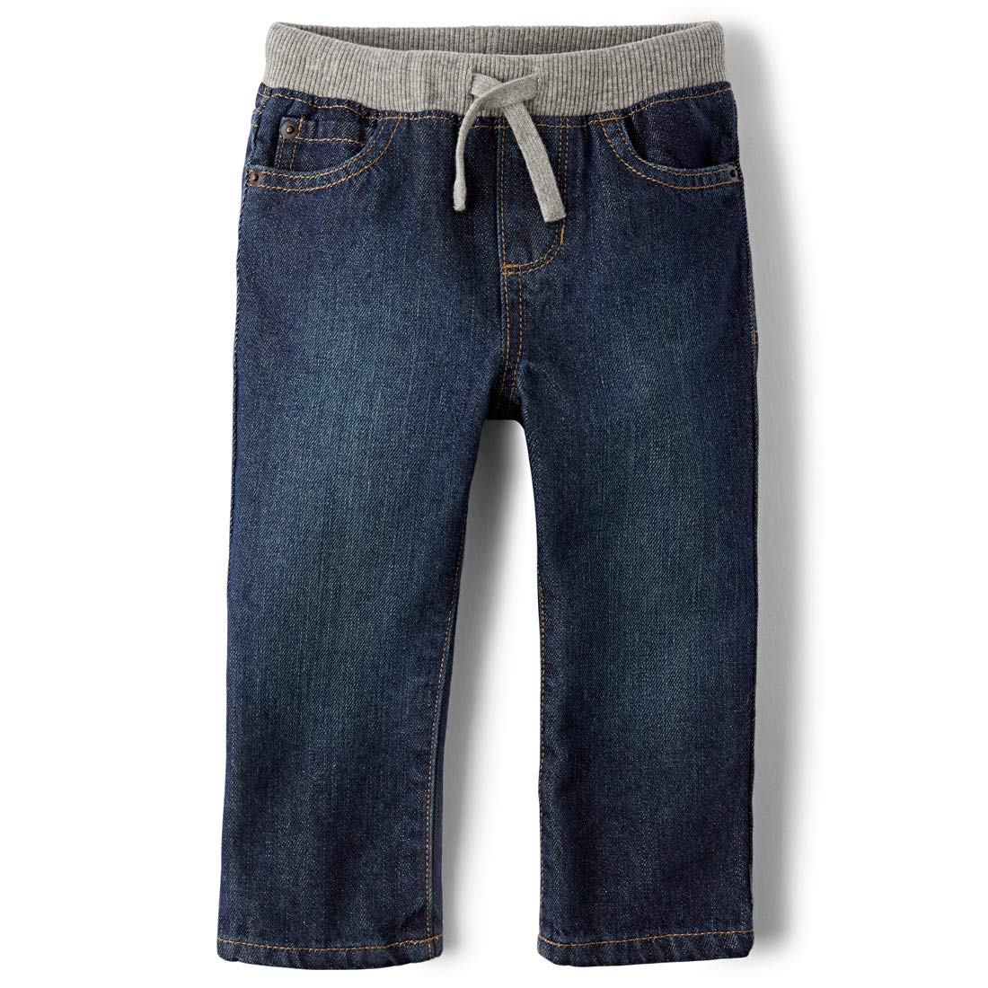 The Children's Place Little Boys and Toddler Pull-On Jean, Liberty Blue, 4T