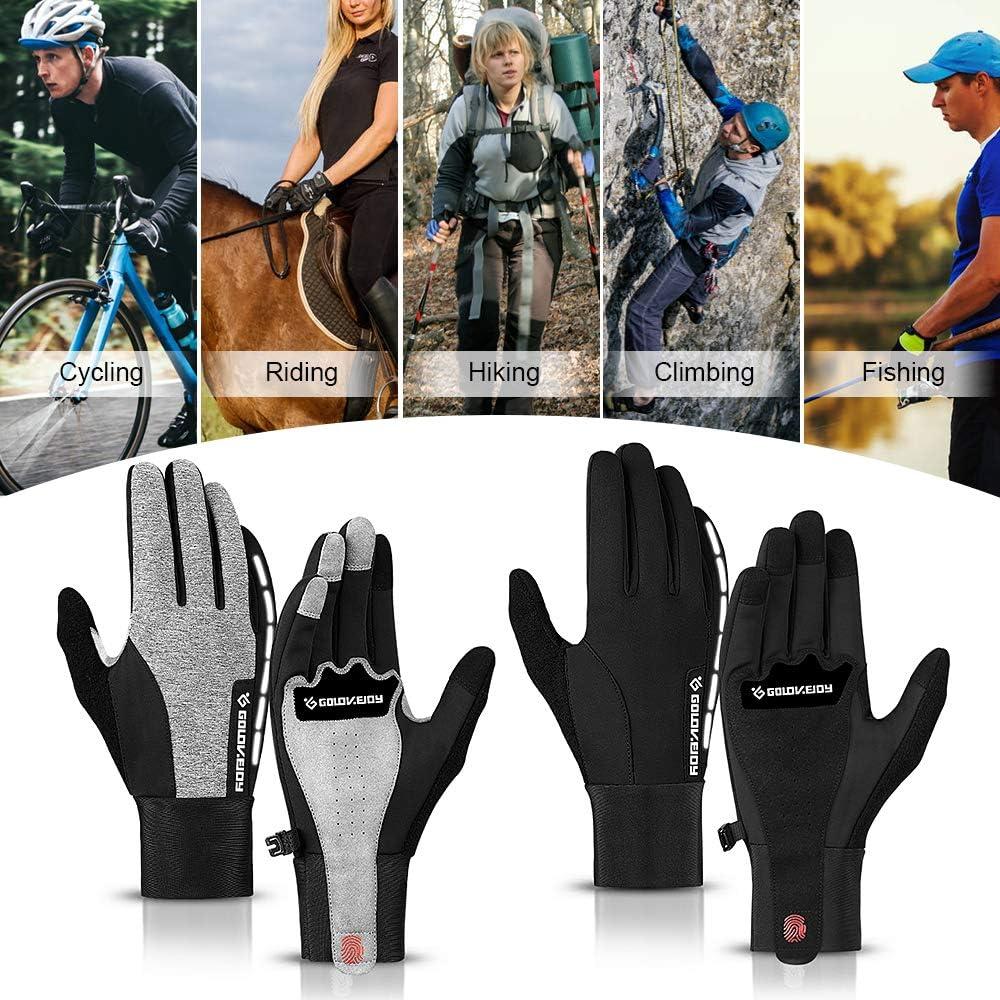 Gants dhiver pour Le Ski//Moto//Camping//p/êche Lixada Gants de Cyclisme pour Hommes//Femmes Chauds