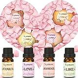 Skymore Set di San Valentino--Oli essenziali e bomba da bagno, 100% puro e natura, olio essenziale naturale per aromaterapia e umidificatori, palle da bagno per fare il bagno (COME, AMORE, MATRIMONIO)