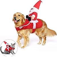 KATELUO Disfraz Gato de Navidad, Perro Ropa Navidad, Disfraz de Navidad para Mascotas, Disfraz Navidad Perro con Papá…