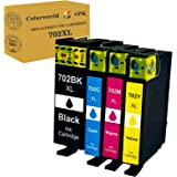 ColorWorld Replacement Remanufactured Ink Cartridge for Epson 702 702XL 702 XL T702XL to use with Workforce Pro WF-3720 WF-37