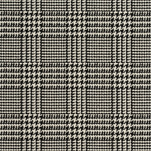 A940 Classic Black and White Houndstooth Woven Jacquard Upholstery Fabric By The Yard -