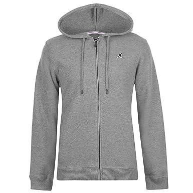 1e0f387b Kangol Mens Ribbed Full Zip Hoody Grey Marl M: Amazon.co.uk: Clothing