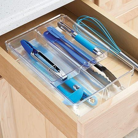 mDesign Cubertero doble para cajones de cocina – Bandeja para ...