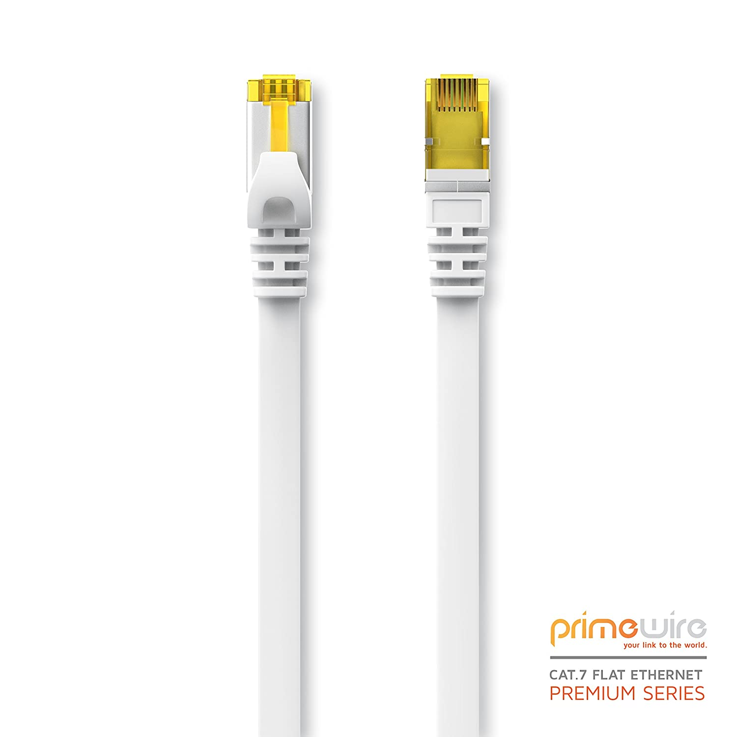 S // FTP Shielding compatible with CAT.5 // CAT.5e // CAT.6 white Switch // Router// Modem // Access Point 3m Ethernet Cable CAT 7 Flat Design // Network Cable RJ45 10Gbps Patchcable