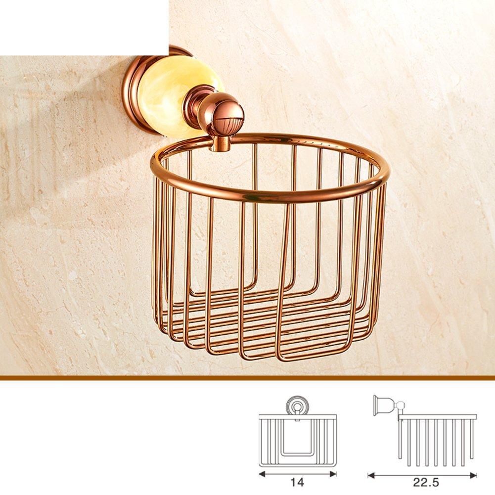 ヨーロピアンスタイルrose-goldタオルラック/タオルラック/ Jadeセットバスルームアクセサリー/真鍮バスルームガラスshelf-wideとタオルラックkit-p B06X6LS8ND