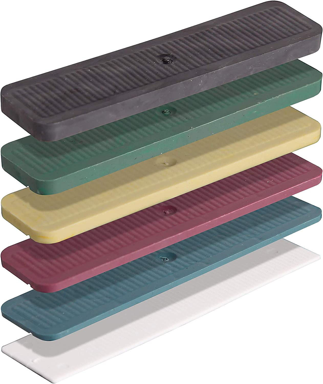 INNONEXXT® - Bloques de acristalamiento premium de 24 x 100 mm, 600 unidades, fabricado en Alemania, placas de base, espaciadores, bloques de distancia de plástico, en el set: 1, 2, 3, 4, 5, 6 mm