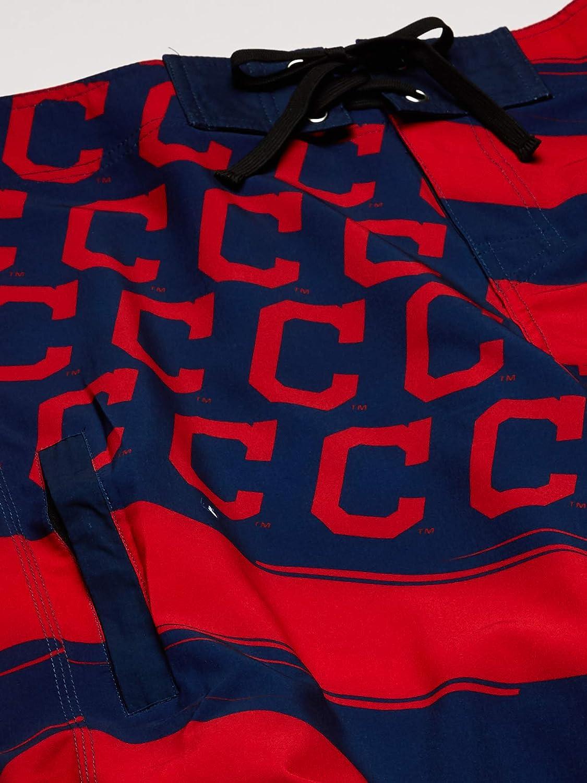 MLB Cleveland Indians Mens Diagonal Flag BOARDSHORTDIAGONAL Flag Boardshort Team Color OS