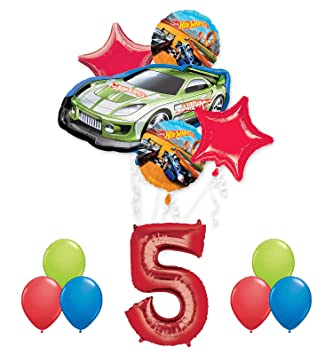 Hot Wheels 5th Birthday Party Supplies And Balloon Decorations By Mayflower Products Amazonin Toys Games