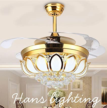 Hans lighting solutions modern ceiling fan with light designer chandelier with remote luxury light