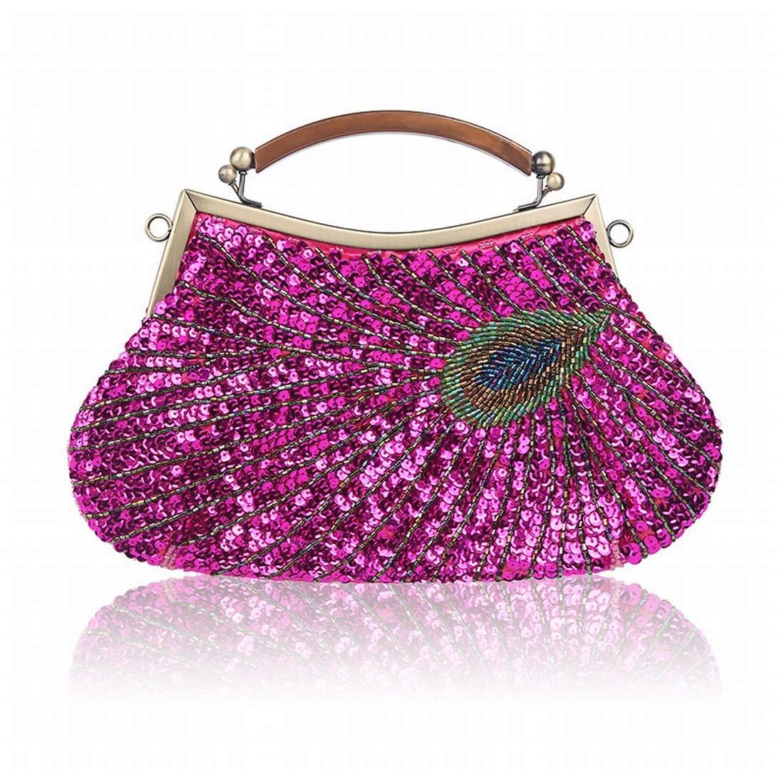 Mkulxina Frauen Handtaschen Abendtaschen Hochzeitsgesellschaft Kupplungen Bag (Farbe (Farbe (Farbe   Rosy) B07Q6VZ3RK Clutches Am wirtschaftlichsten efbf1a