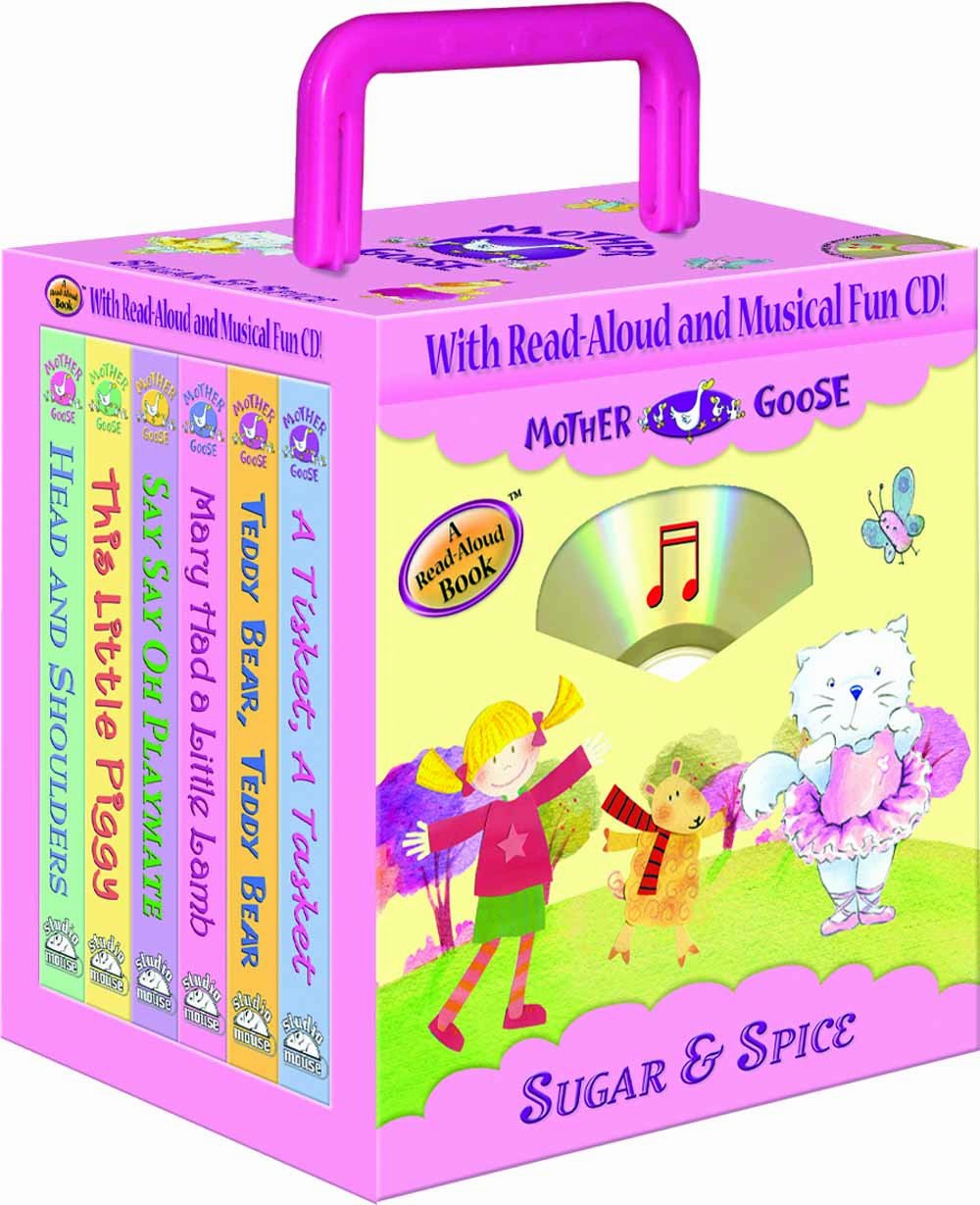 Mother Goose Nursery Rhymes Sugar and Spice 6- books Travel Pack (with audio CD and carrying case) (Travel Pack)