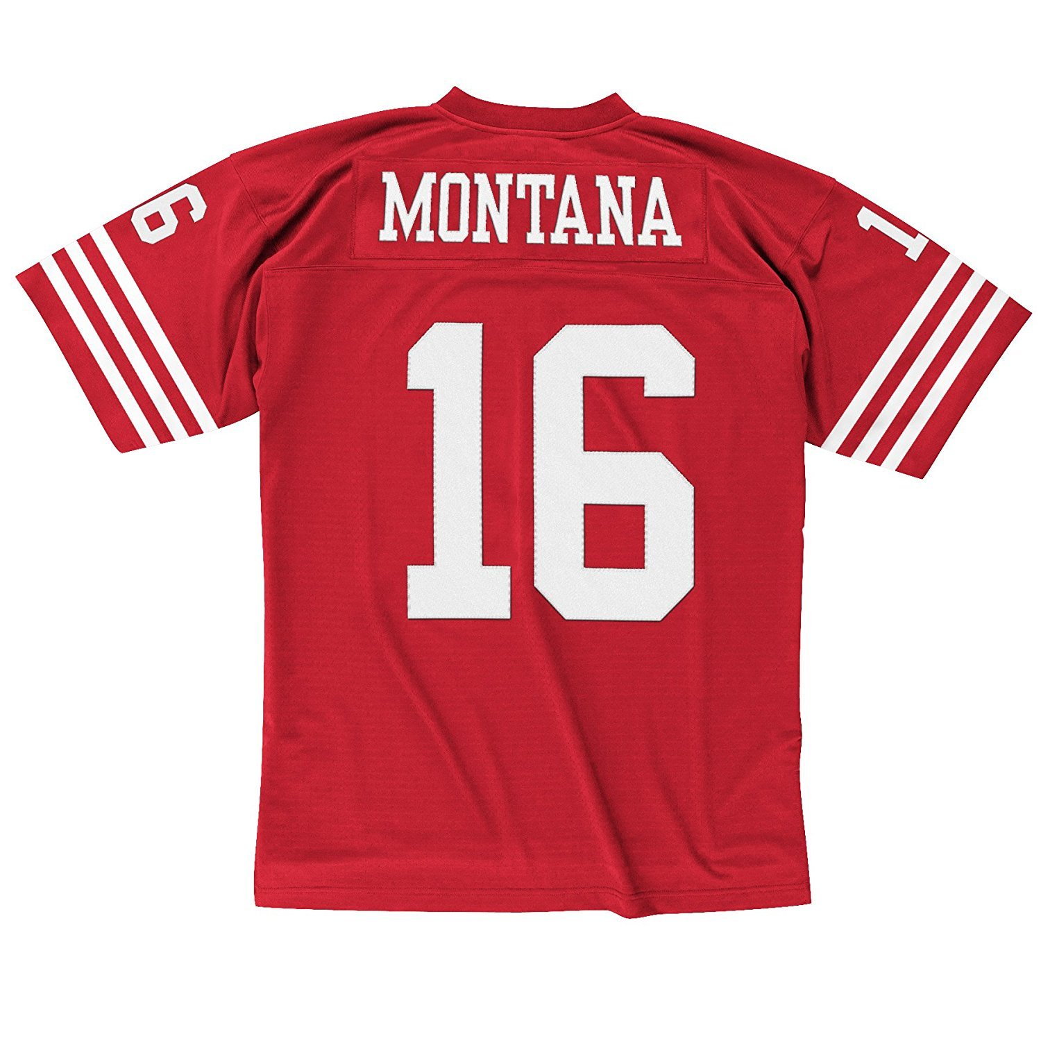 check out 48e53 33684 Mitchell & Ness Joe Montana San Francisco 49ers Scarlet Red Throwback Jersey