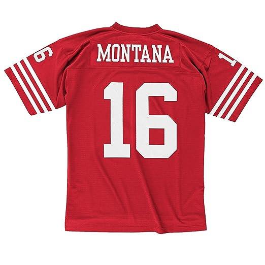 7ec256ebf Amazon.com   Mitchell   Ness Joe Montana San Francisco 49ers Scarlet Red  Throwback Jersey   Sports Fan T Shirts   Clothing