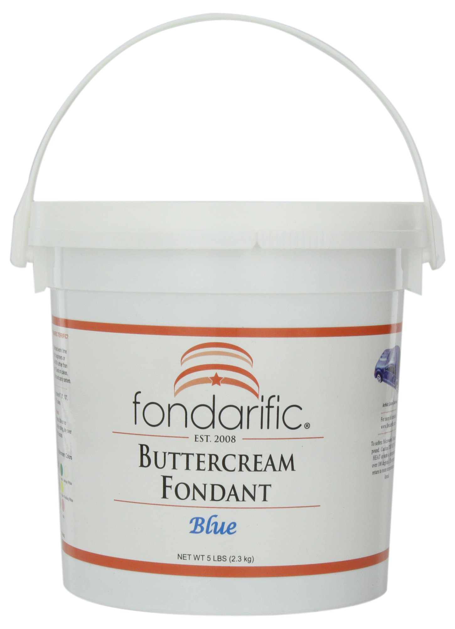 Fondarific Buttercream Blue Fondant, 5-Pounds by Fondarific (Image #1)