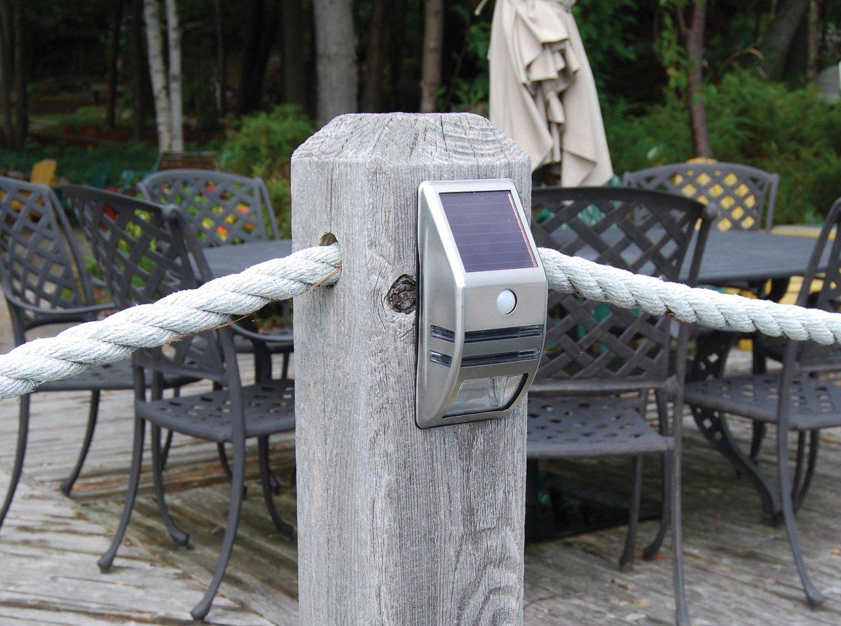 Dock Edge Solar Post Surface Mount Light with Motion Sensor