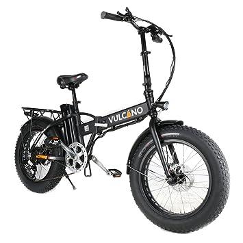 Bicicleta elctrica plegable verde militar