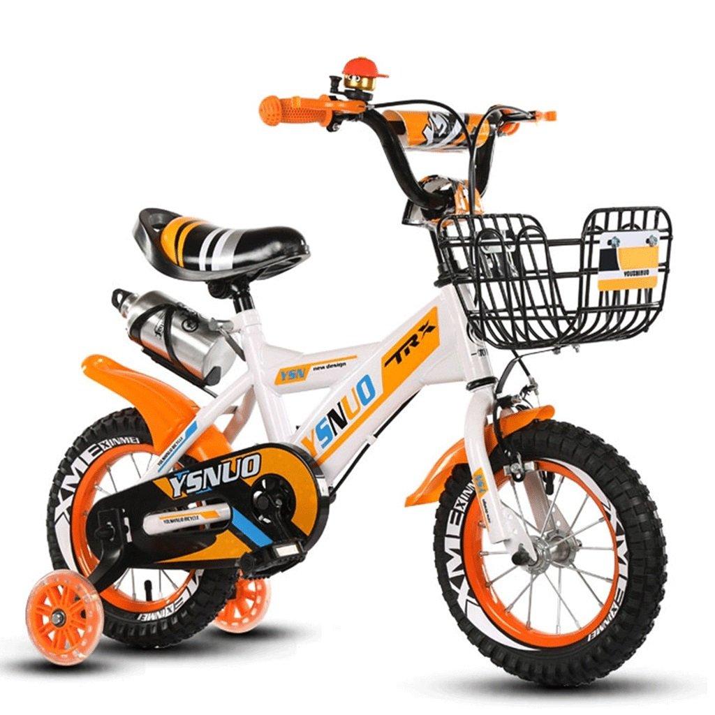 DGF 子供の車の折りたたみ自転車2-10歳の男性と女性の赤ちゃんの自転車の子供のプッシュ自転車インフレータブルホイール (色 : イエロー いえろ゜, サイズ さいず : 18 inches) B07F14ZFWK 18 inches|イエロー いえろ゜ イエロー いえろ゜ 18 inches