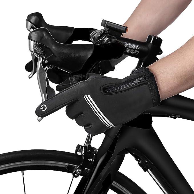 Tomuku Guantes de Invierno Super Cálido Impermeable Pantalla Táctil A Prueba de Viento Antideslizante para Moto y Senderismo Acampada Ciclismo Mujer Hombre
