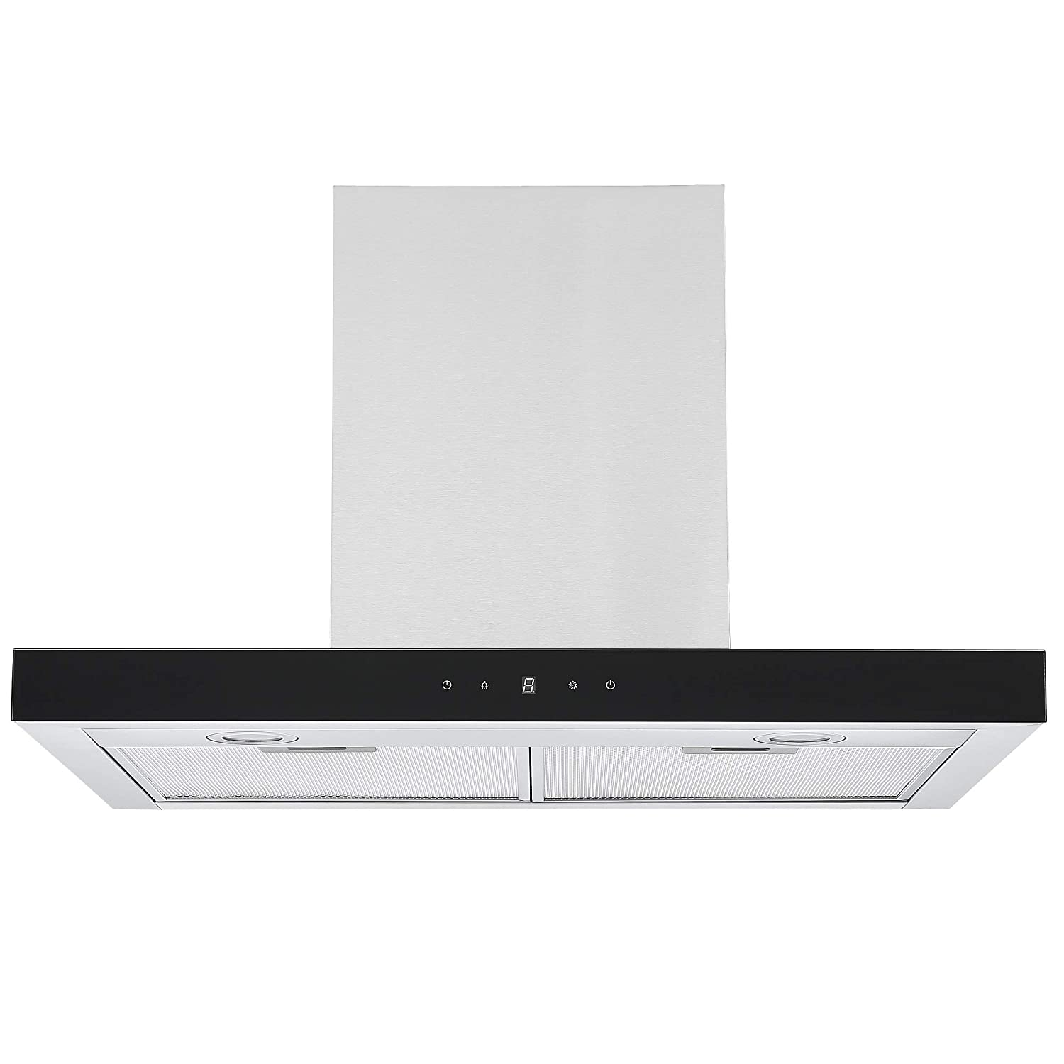 Black Cookology Linear Cooker Hood Touch Control 70cm Designer Extractor Fan Wall Mounted