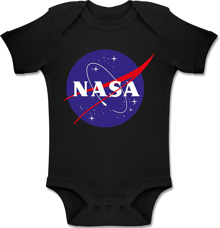 NASA Meatball Logo Up to Date Baby Baby T-Shirt Langarm