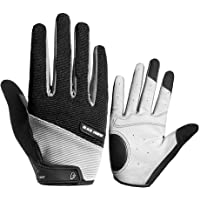 asiproper Touch Screen Full Finger Cycling Gloves Anti-slip Shockproof Outdoor Sports Bike Bicycle Gloves