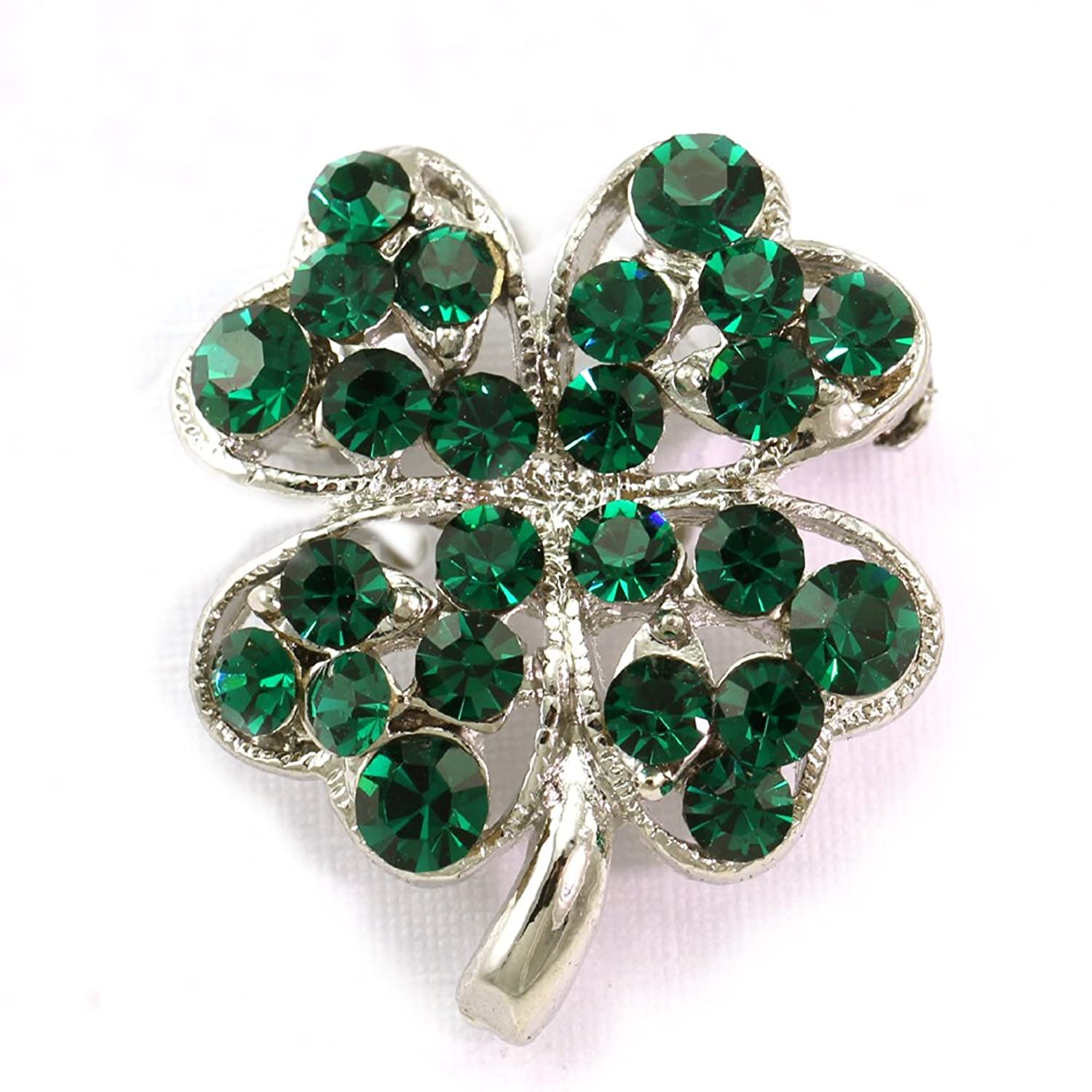 amazon com st patrick u0027s day good luck charm green four leaf