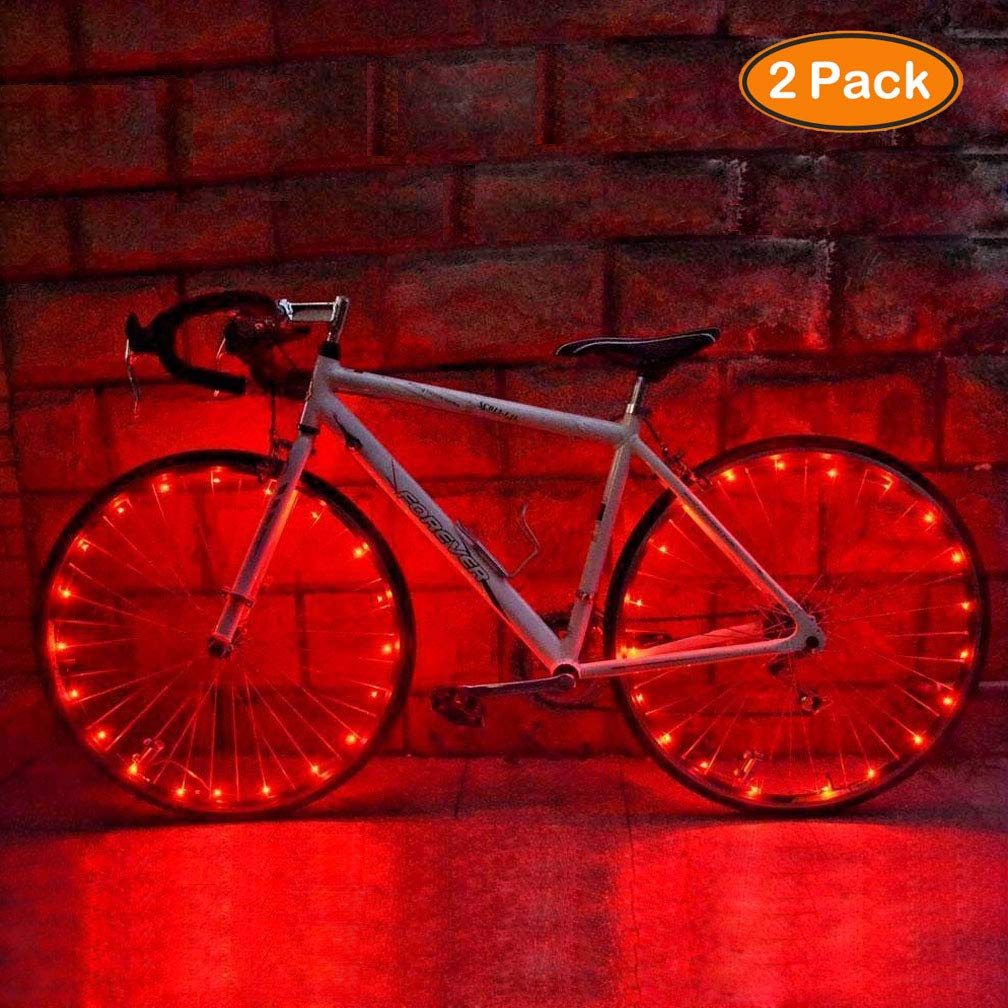 Syolee 2 Pack Bike Wheel Light Led Waterproof Lights for Kids Colorful Bicycle Tire Lights Ultra Bright LED Spoke Light Front and Back for Safety Warning and Decoration