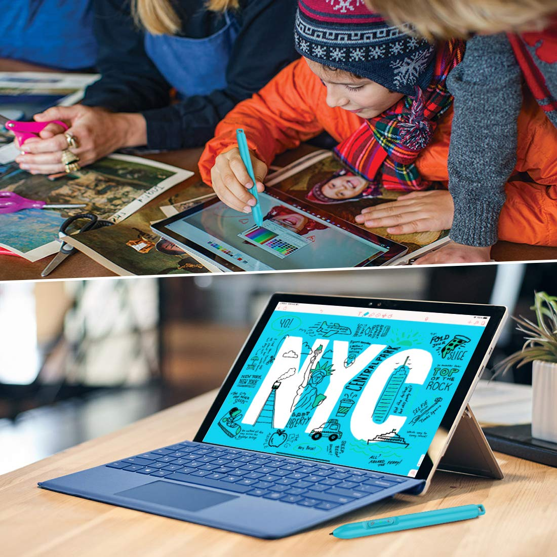 Microsoft Certified Surface Pen with 4096 Levels Pressure Sensitivity Stylus Pen 200hrs Using Time 360Days Standby ABS Plastic Surface Pro Pen Compatible with Surface Pro//Go//Laptop//Book//Studio