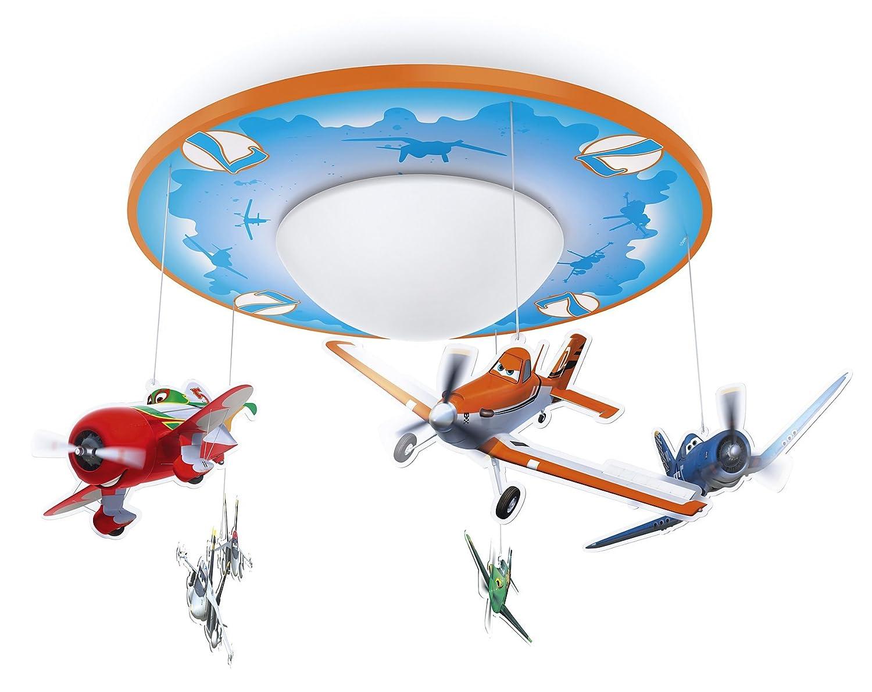 Philips Disney Planes LED Deckenleuchte, orange/blau, 717625316 ...